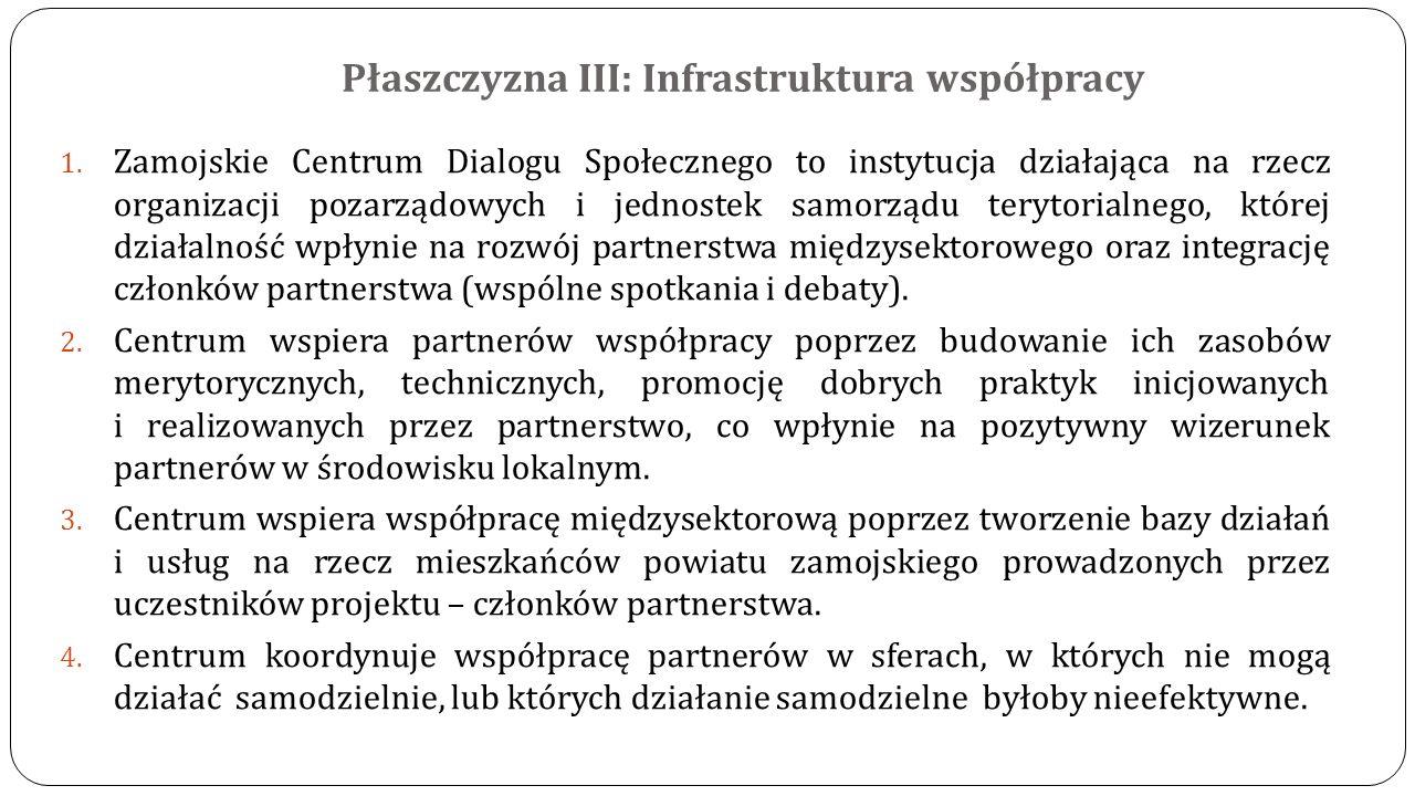 Płaszczyzna III: Infrastruktura współpracy