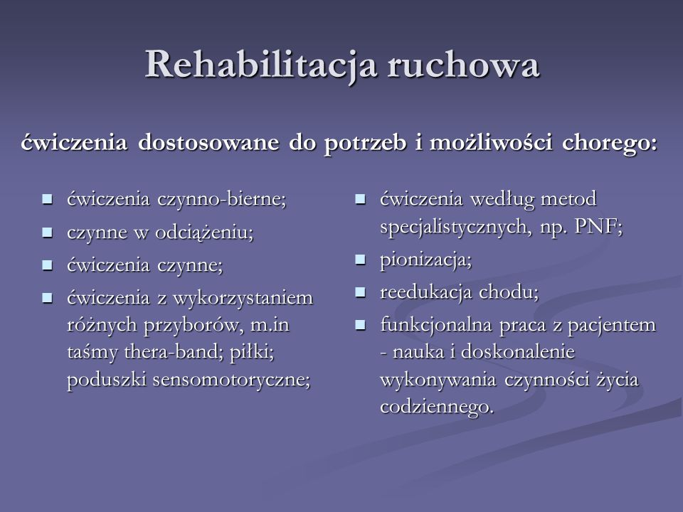 Rehabilitacja ruchowa
