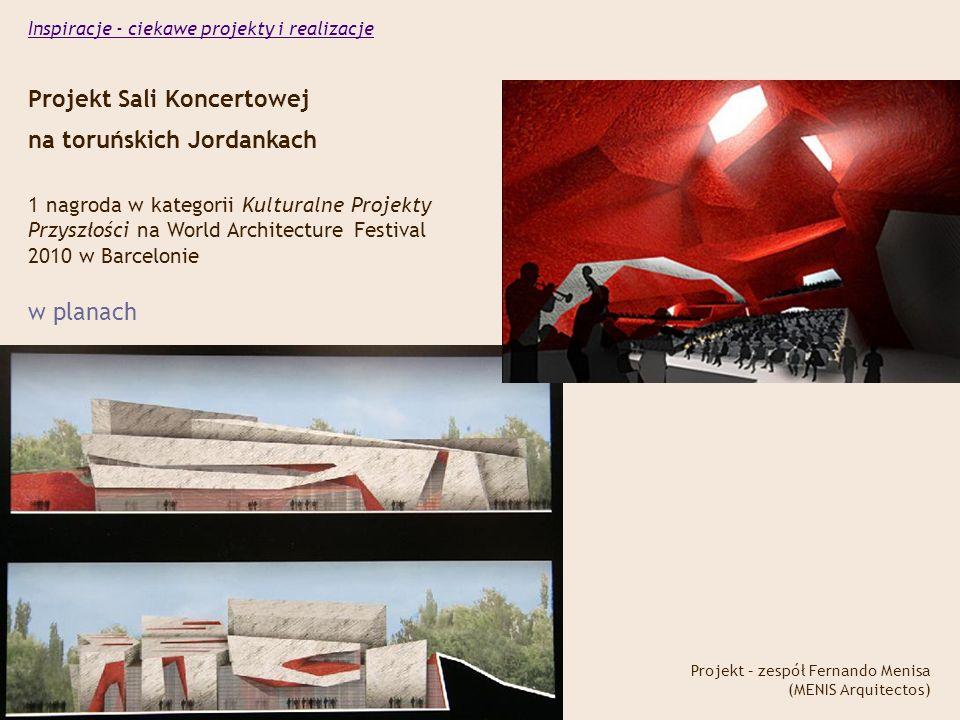 Projekt Sali Koncertowej na toruńskich Jordankach