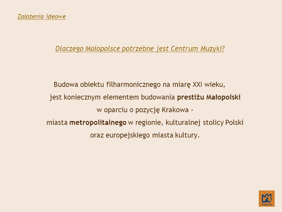 Dlaczego Małopolsce potrzebne jest Centrum Muzyki