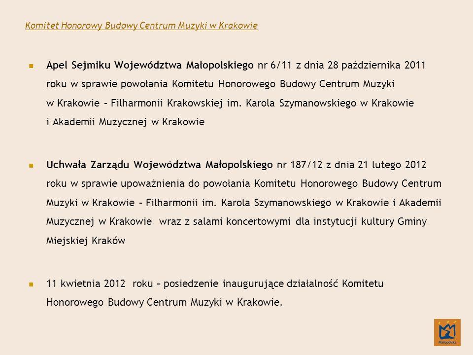 Komitet Honorowy Budowy Centrum Muzyki w Krakowie
