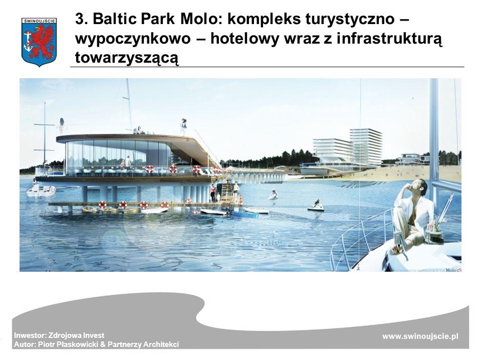 3. Baltic Park Molo: kompleks turystyczno – wypoczynkowo – hotelowy wraz z infrastrukturą towarzyszącą