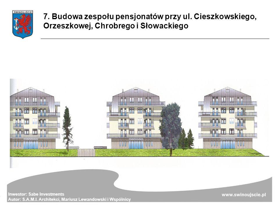 7. Budowa zespołu pensjonatów przy ul