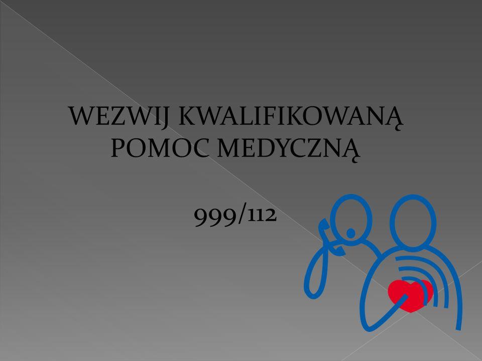 WEZWIJ KWALIFIKOWANĄ POMOC MEDYCZNĄ 999/112