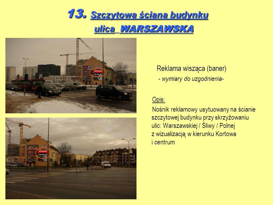 13. Szczytowa ściana budynku ulica WARSZAWSKA