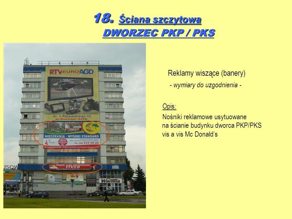 18. Ściana szczytowa DWORZEC PKP / PKS