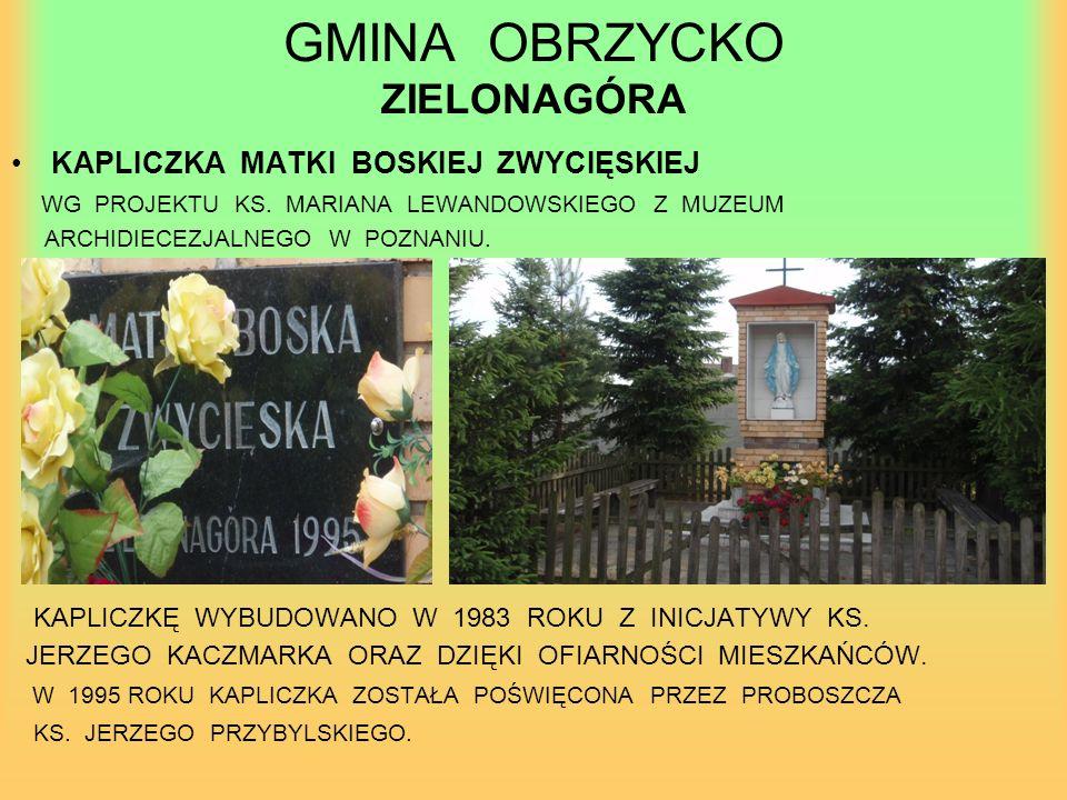 GMINA OBRZYCKO ZIELONAGÓRA