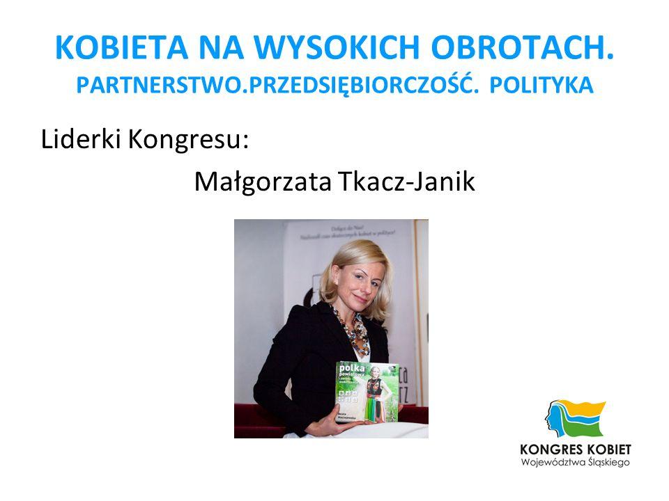 KOBIETA NA WYSOKICH OBROTACH. PARTNERSTWO.PRZEDSIĘBIORCZOŚĆ. POLITYKA