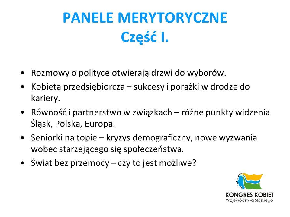 PANELE MERYTORYCZNE Część I.