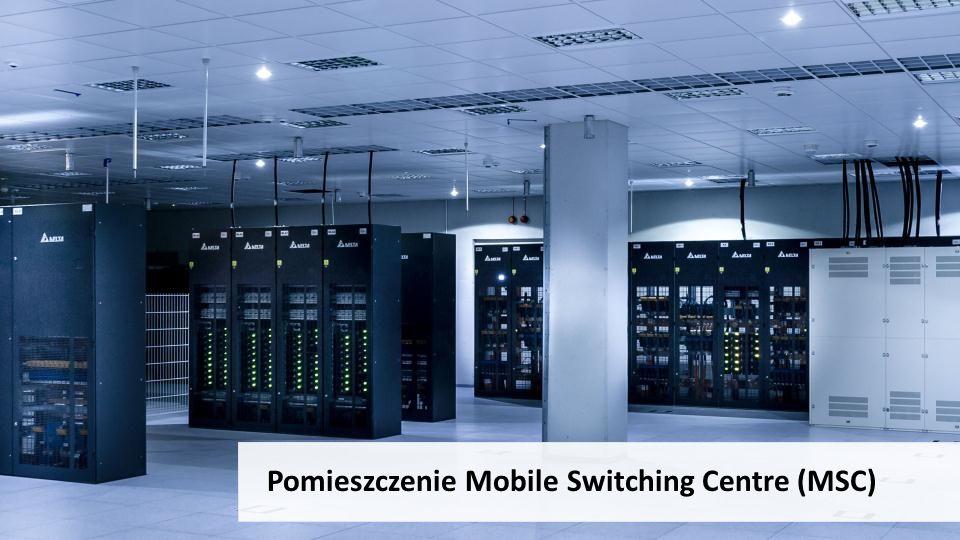 Pomieszczenie Mobile Switching Centre (MSC)
