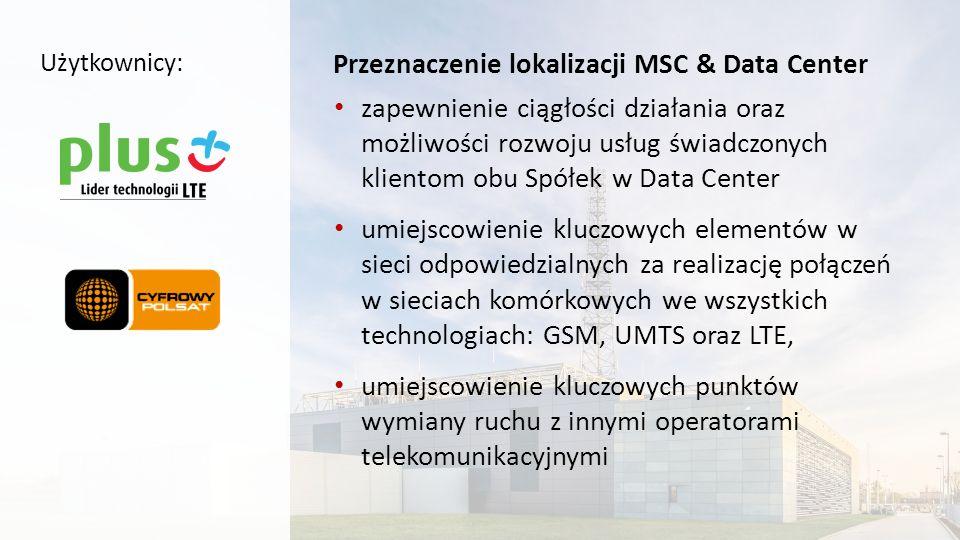 Przeznaczenie lokalizacji MSC & Data Center