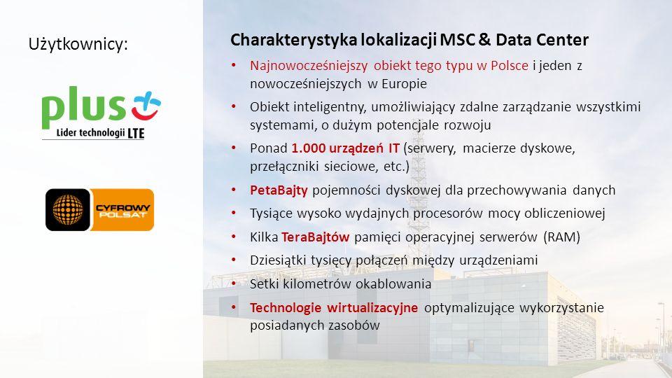Charakterystyka lokalizacji MSC & Data Center