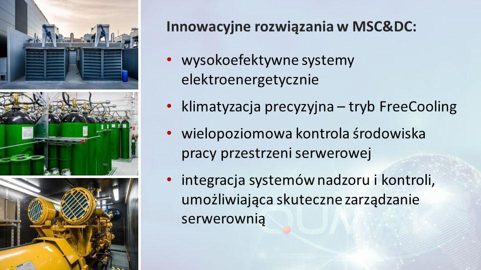 Innowacyjne rozwiązania w MSC&DC: