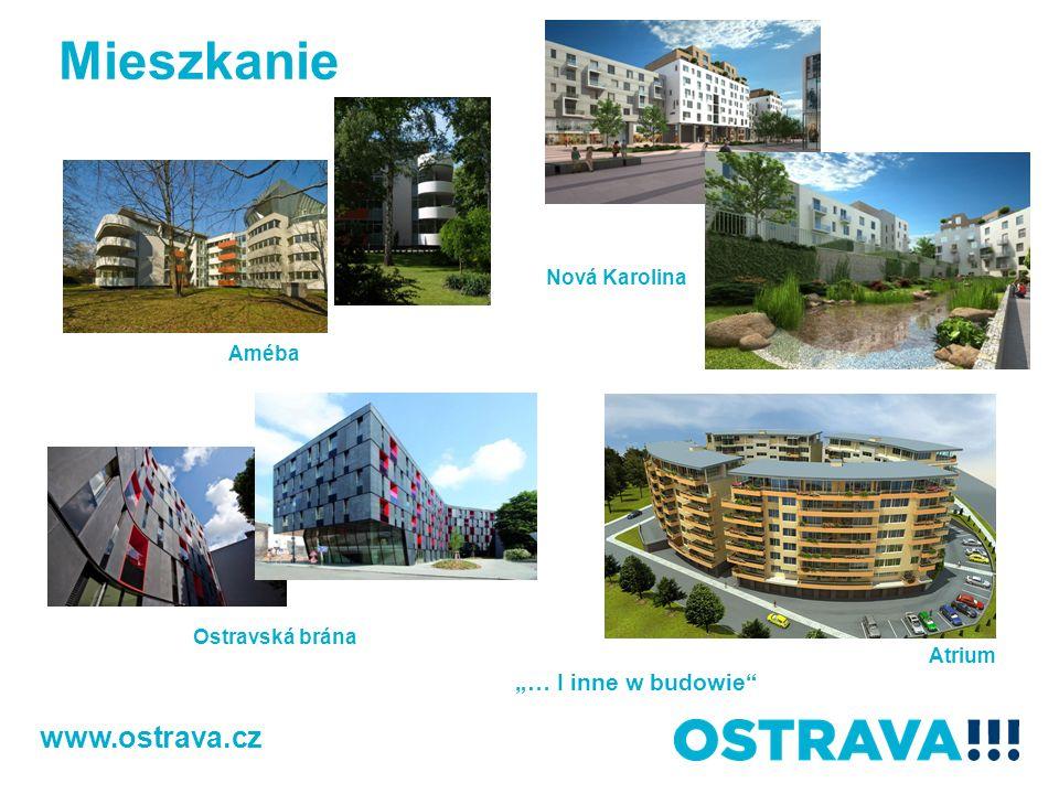 """Mieszkanie www.ostrava.cz """"… I inne w budowie Nová Karolina Améba"""