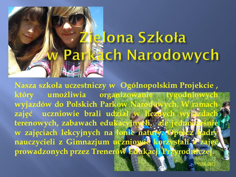 Zielona Szkoła w Parkach Narodowych