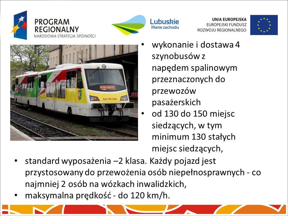 Inwestycje kolejowe. wykonanie i dostawa 4 szynobusów z napędem spalinowym przeznaczonych do przewozów pasażerskich.