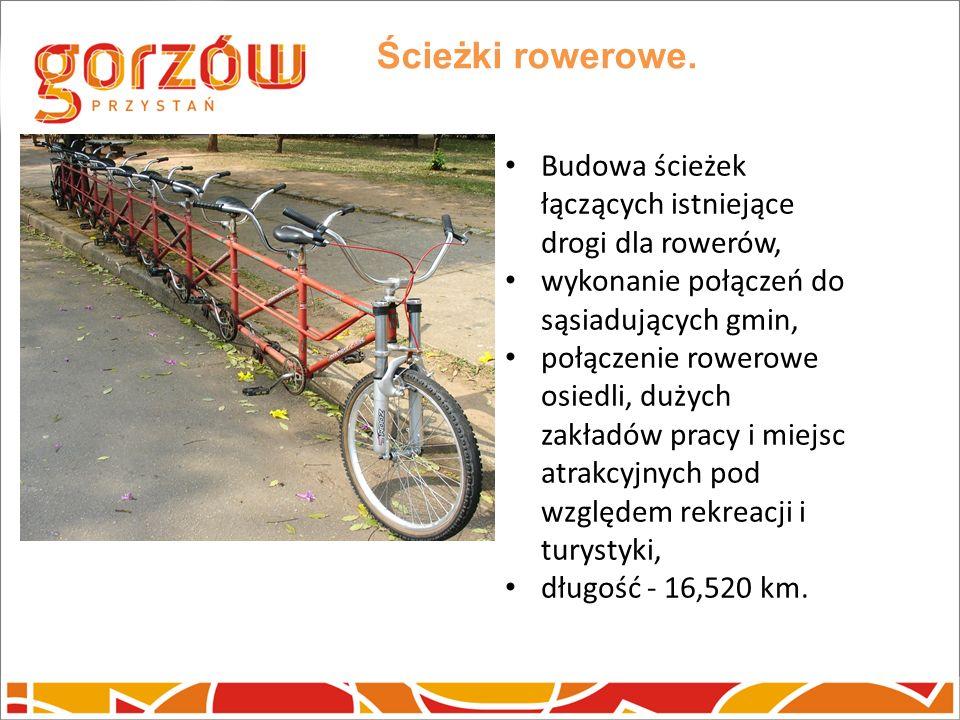 Ścieżki rowerowe. Budowa ścieżek łączących istniejące drogi dla rowerów, wykonanie połączeń do sąsiadujących gmin,