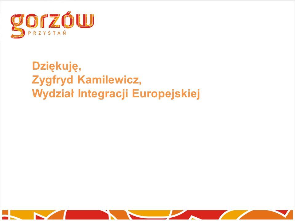 Dziękuję, Zygfryd Kamilewicz, Wydział Integracji Europejskiej