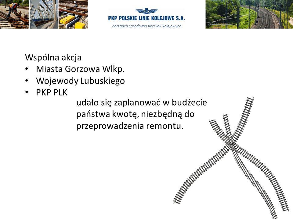 Wspólna akcja Miasta Gorzowa Wlkp. Wojewody Lubuskiego. PKP PLK.