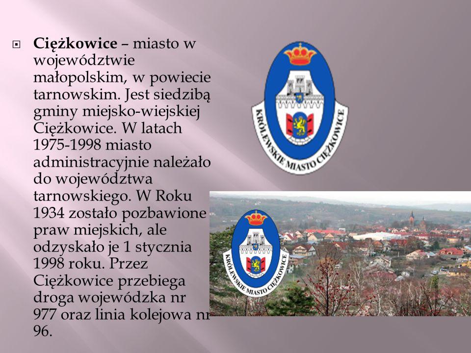 Ciężkowice – miasto w województwie małopolskim, w powiecie tarnowskim