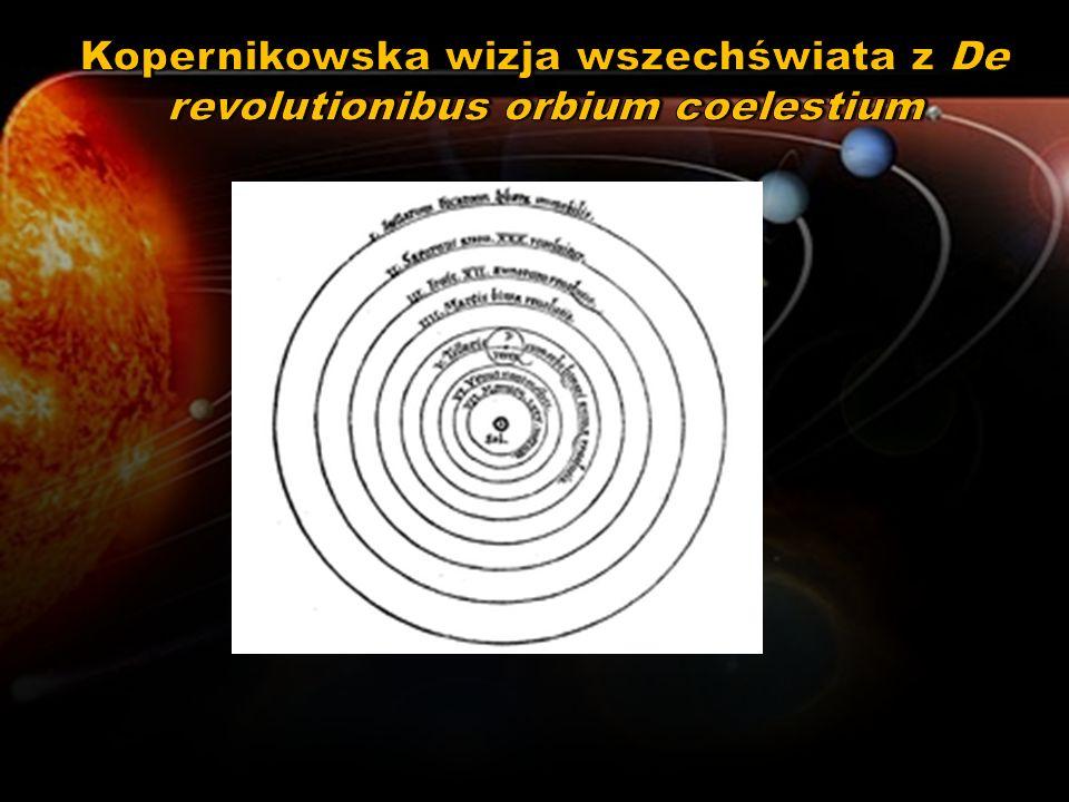 Kopernikowska wizja wszechświata z De revolutionibus orbium coelestium
