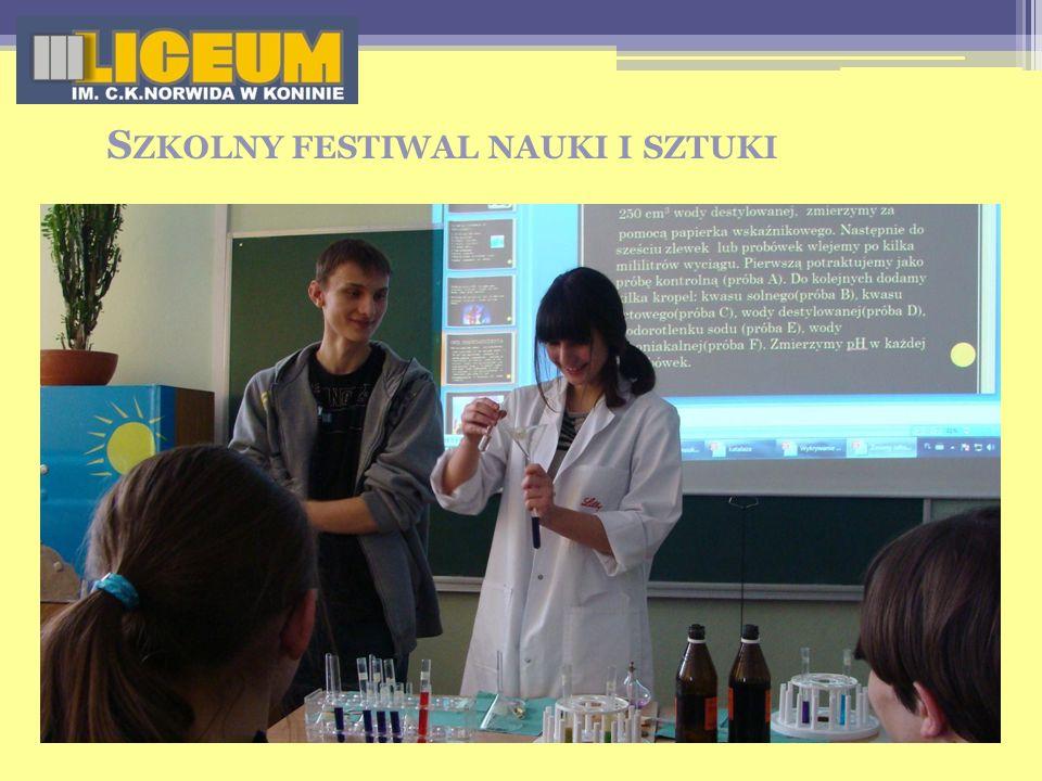 Szkolny festiwal nauki i sztuki
