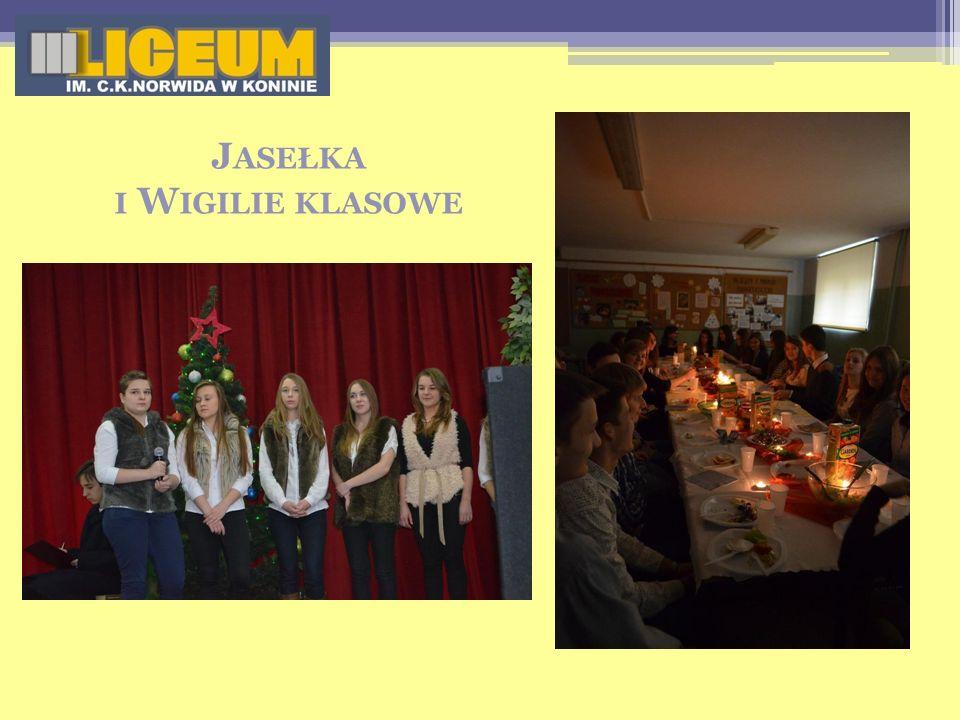 Jasełka i Wigilie klasowe