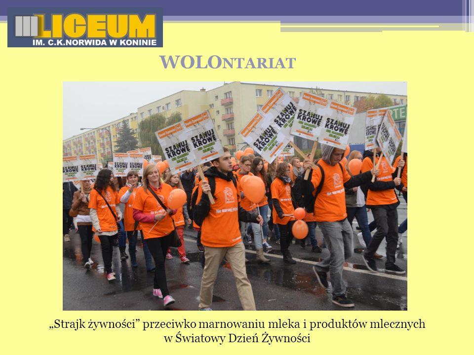 """WOLOntariat """"Strajk żywności przeciwko marnowaniu mleka i produktów mlecznych w Światowy Dzień Żywności."""