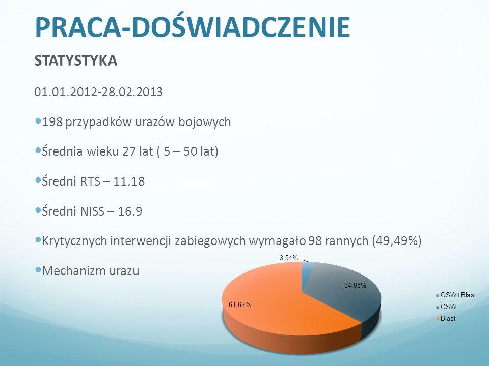 PRACA-DOŚWIADCZENIE STATYSTYKA 01.01.2012-28.02.2013