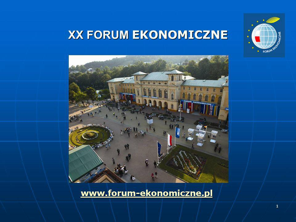 XX FORUM EKONOMICZNE www.forum-ekonomiczne.pl