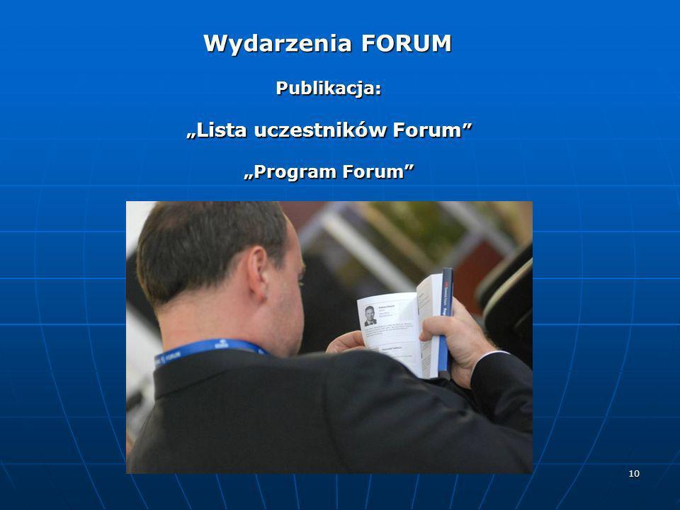 """""""Lista uczestników Forum"""