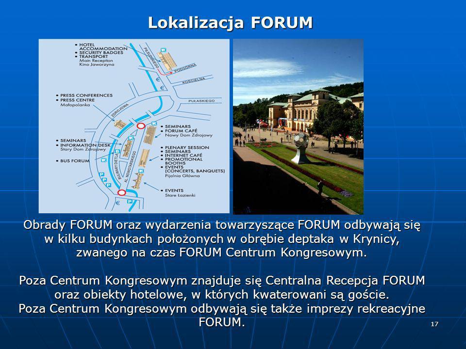 Poza Centrum Kongresowym odbywają się także imprezy rekreacyjne FORUM.