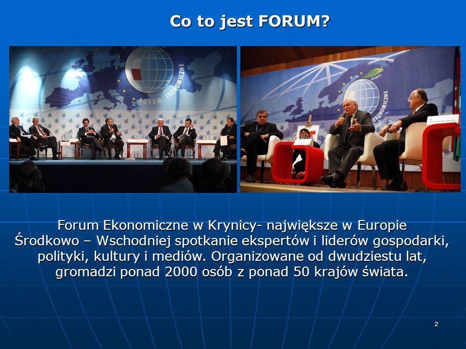 Forum Ekonomiczne w Krynicy- największe w Europie