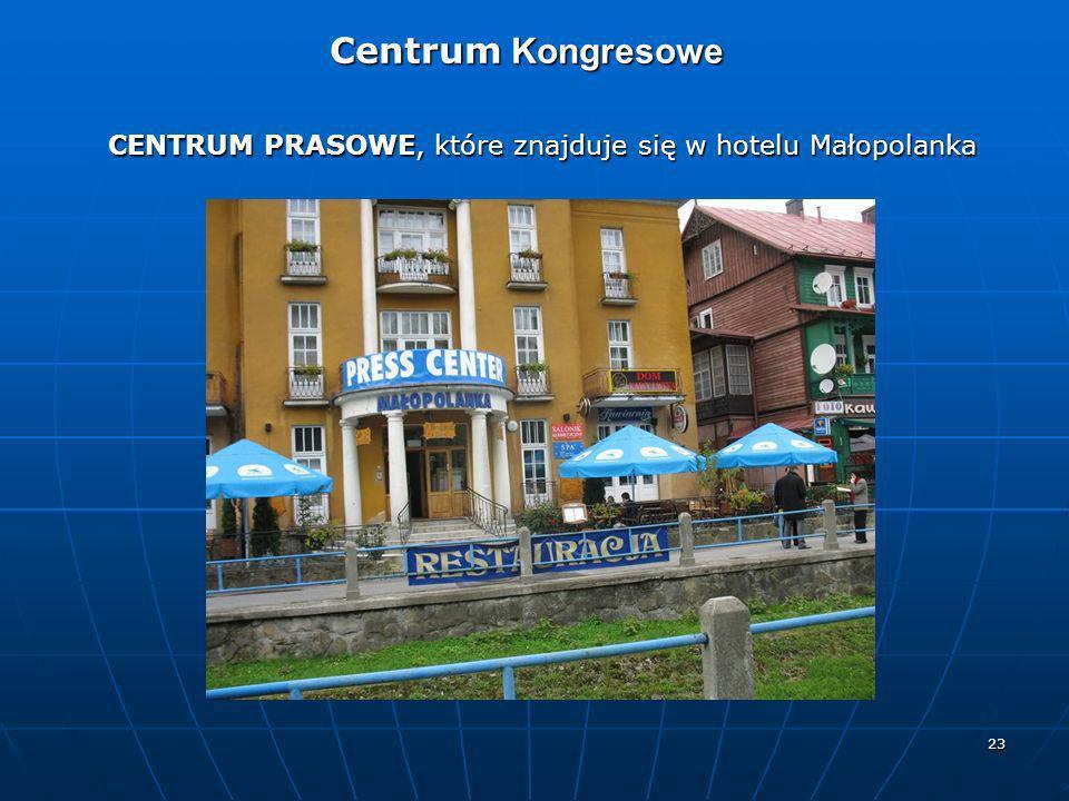CENTRUM PRASOWE, które znajduje się w hotelu Małopolanka