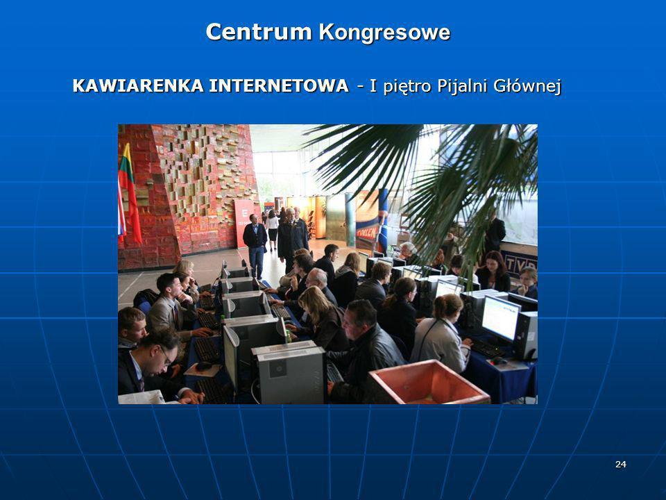Centrum Kongresowe KAWIARENKA INTERNETOWA - I piętro Pijalni Głównej