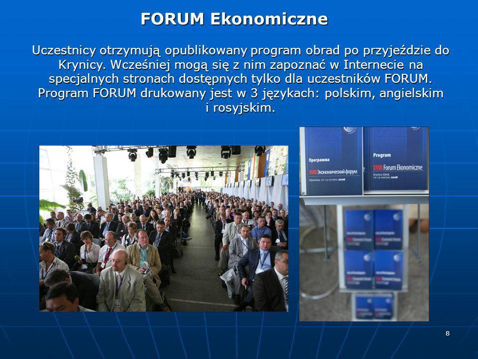 Program FORUM drukowany jest w 3 językach: polskim, angielskim