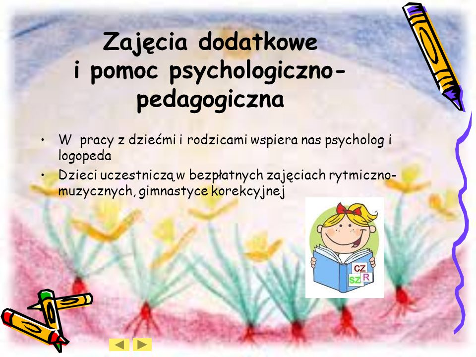 Zajęcia dodatkowe i pomoc psychologiczno-pedagogiczna