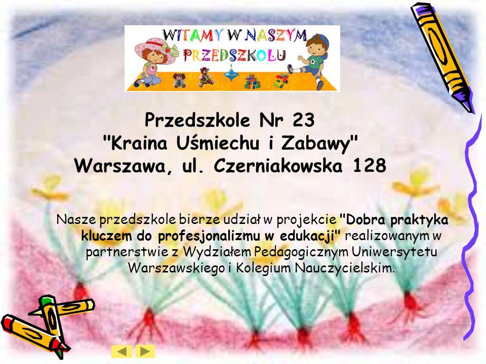 Przedszkole Nr 23 Kraina Uśmiechu i Zabawy Warszawa, ul