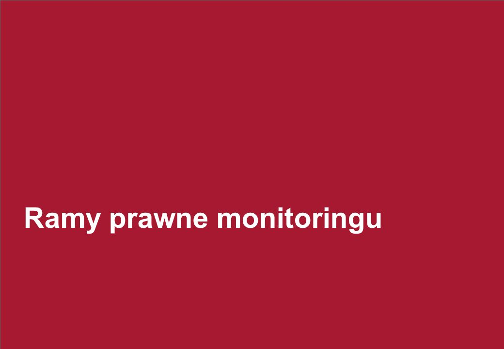 Cele monitoringuRejestracja i kontrola czasu pracy. Kontrola efektywności pracowników. Wykrywanie przestępstw.