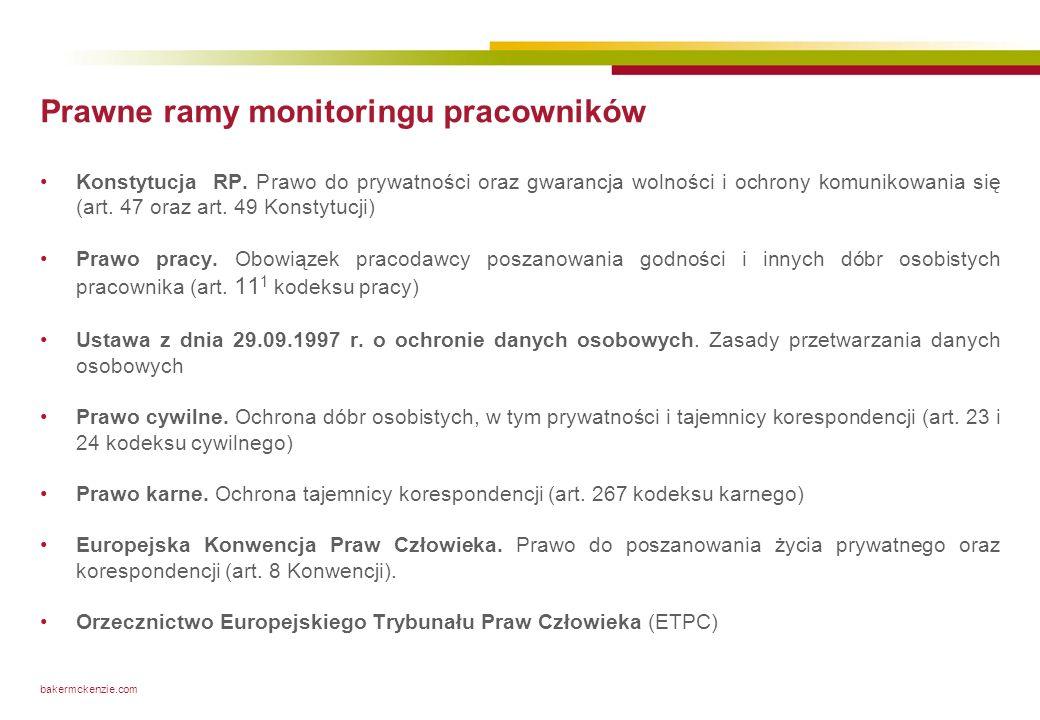 Ramy prawne monitoringu