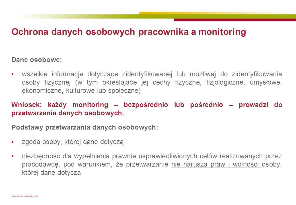 Prawne ramy monitoringu pracowników