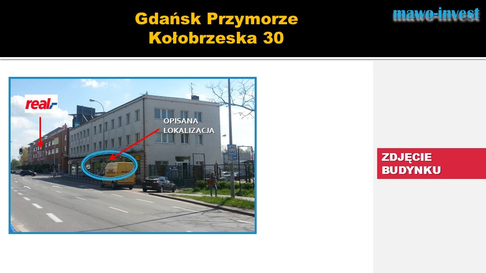 mawo-invest Gdańsk Przymorze Kołobrzeska 30 ZDJĘCIE BUDYNKU OPISANA