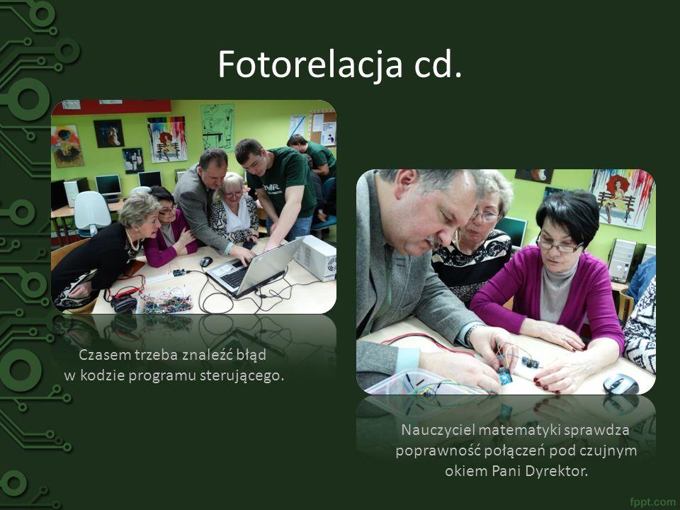 Fotorelacja cd. Czasem trzeba znaleźć błąd