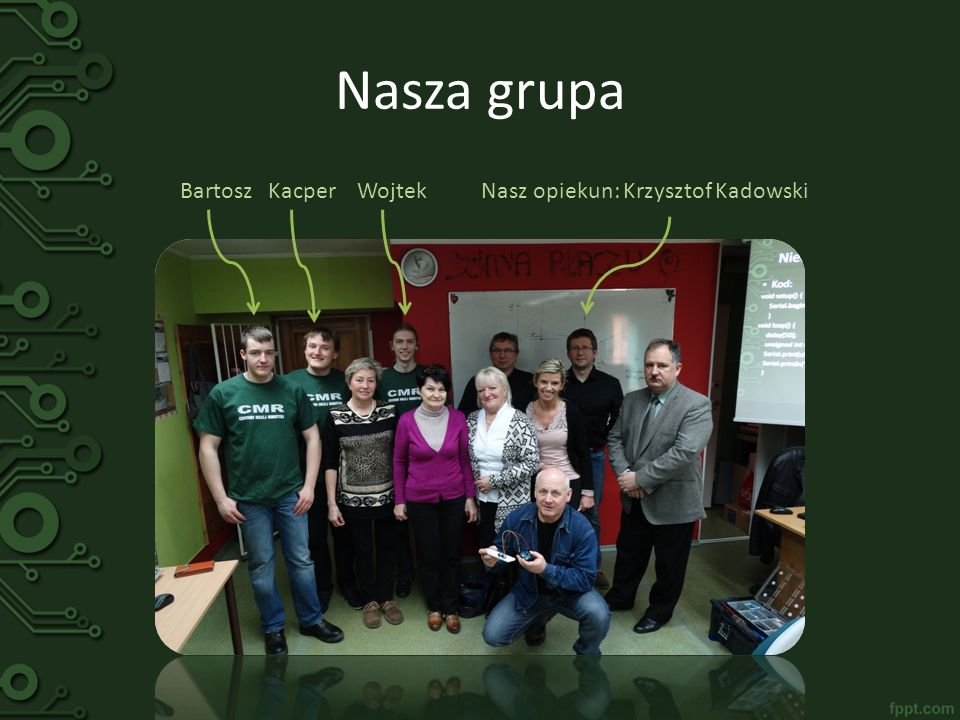 Nasza grupa Bartosz Kacper Wojtek Nasz opiekun: Krzysztof Kadowski