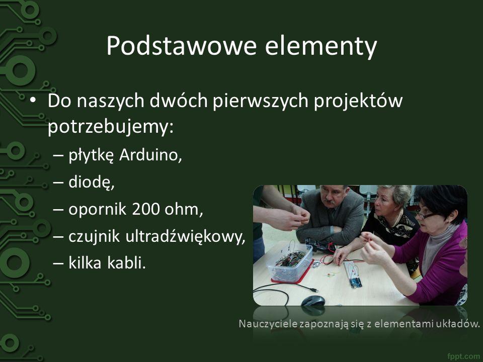 Nauczyciele zapoznają się z elementami układów.