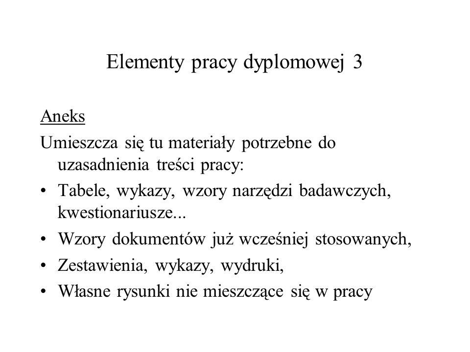 Elementy pracy dyplomowej 3