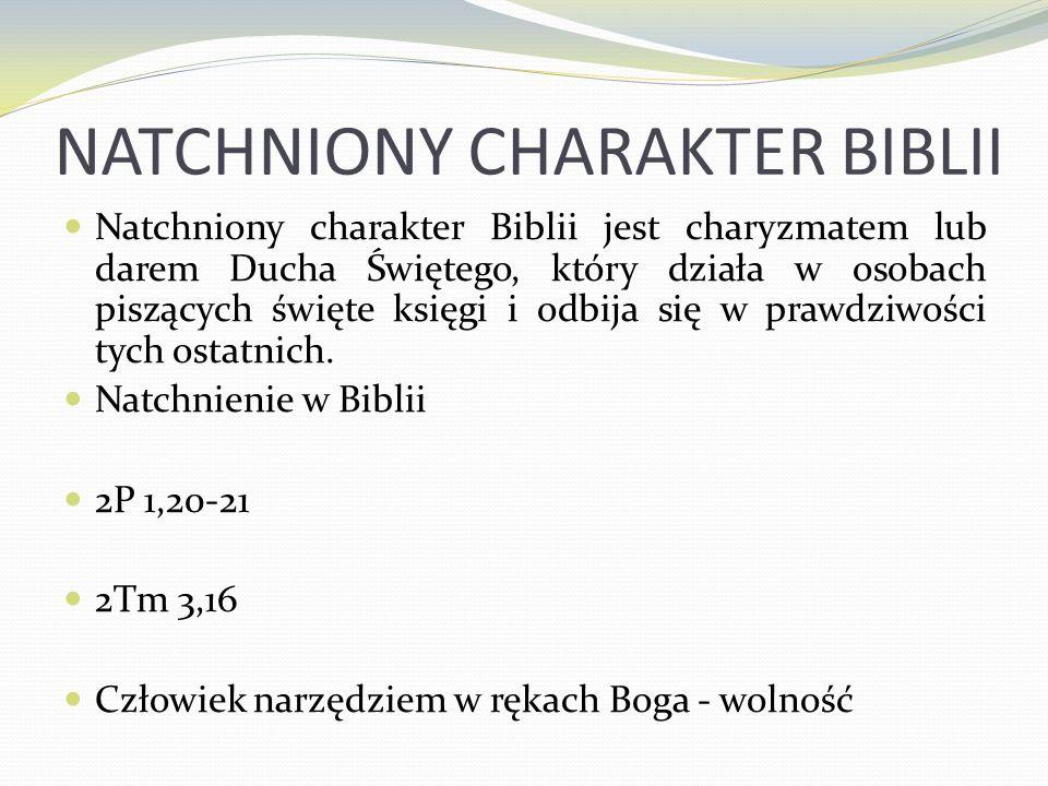 NATCHNIONY CHARAKTER BIBLII