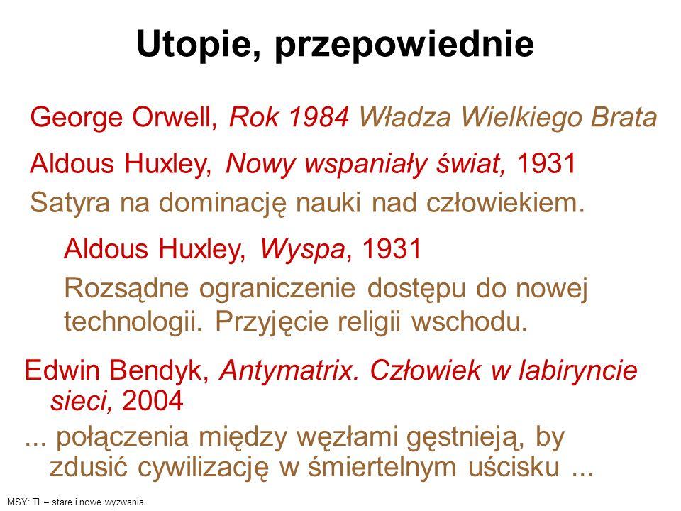 Utopie, przepowiednie George Orwell, Rok 1984 Władza Wielkiego Brata