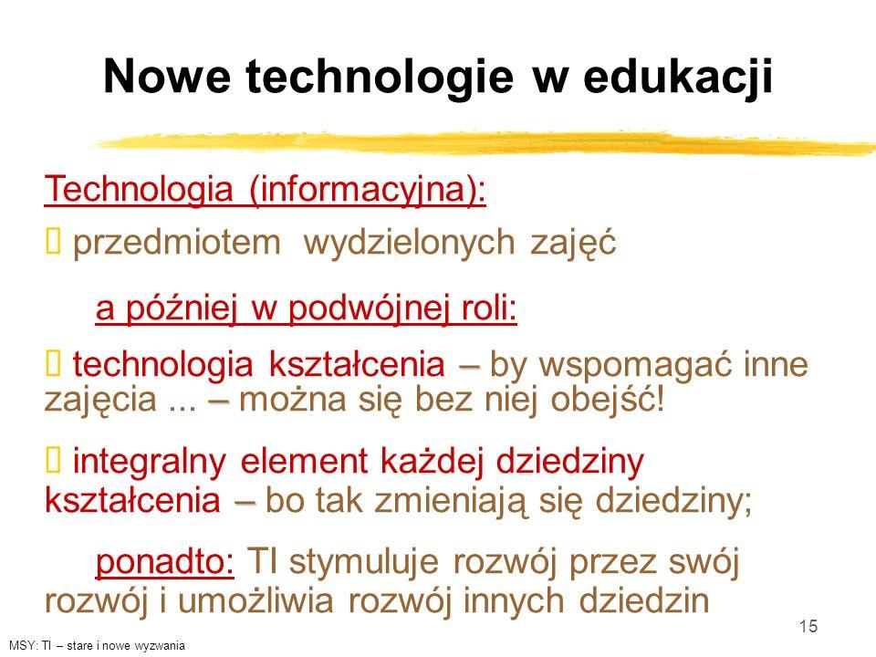 Nowe technologie w edukacji