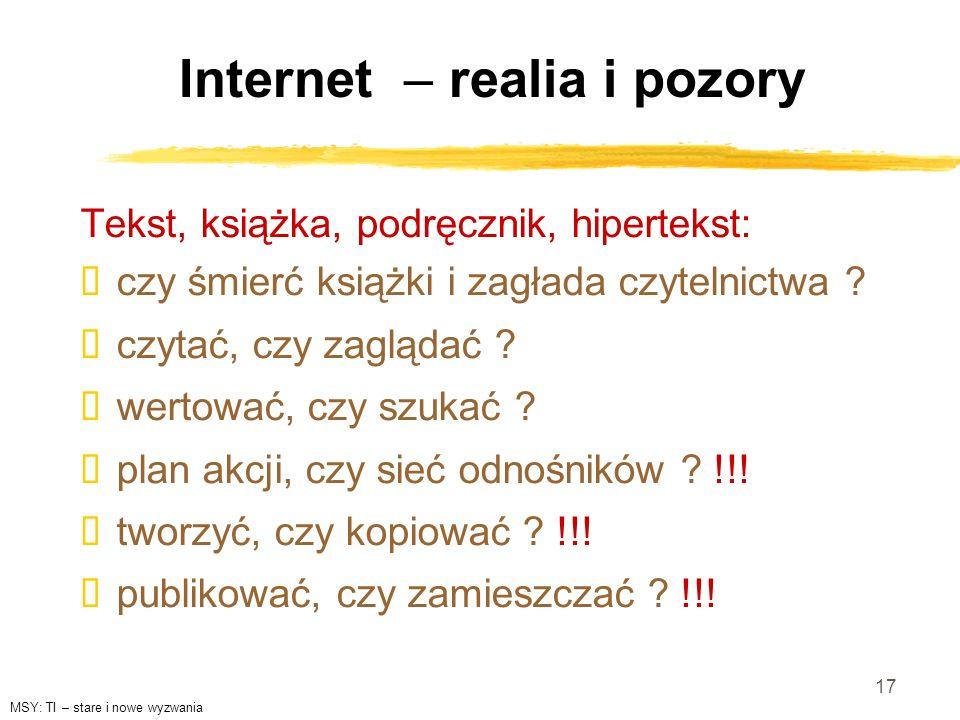 Internet – realia i pozory